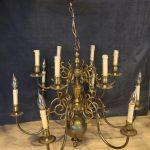 Bronzen twaalflichts kroonluchter