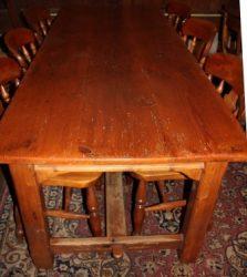 Hollands grenen tafel met drie laden