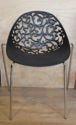 Zwarte design stoel met motief