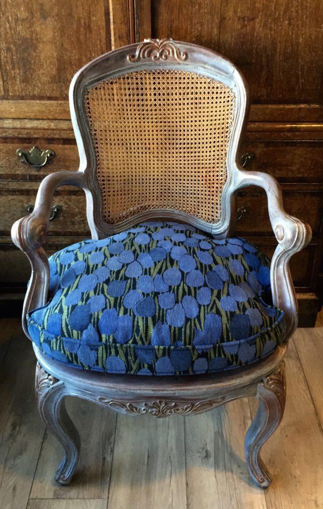 Teakenhouten fauteuil