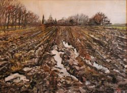 Geploegde aarde bij Langbroek (F. Winters)