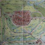Kaart Leiden (Braun en Hoogenberg)