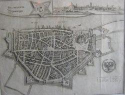Kaart Nijmegen (G. Blaeu)