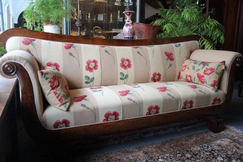 Mahoniehouten 3 zits sofa