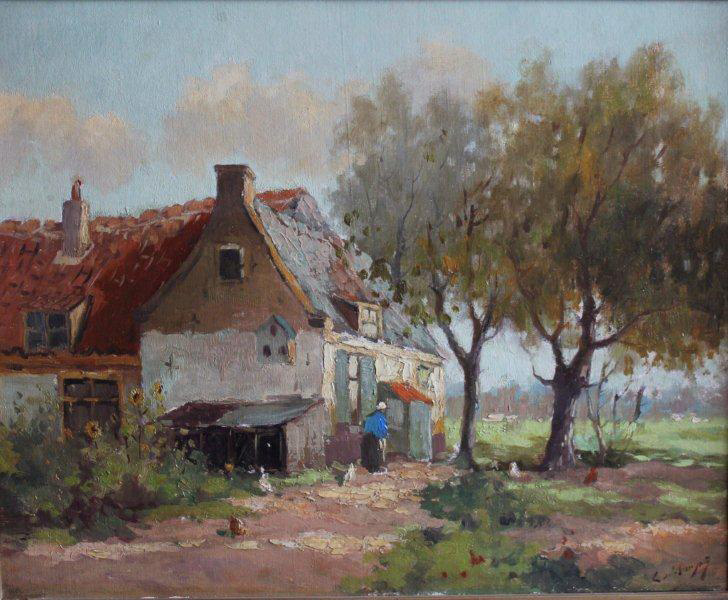 Boerderij met kippen (C. de Bruyn jr.)