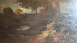 Landschap bij schemering (A.v. Konijnenburgh)