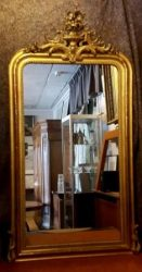 Franse spiegel met oud glas – verkocht