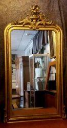 Franse spiegel met oud glas
