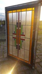 Art deco glas in lood raam – verkocht