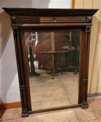 Antieke Spiegel met pilasters